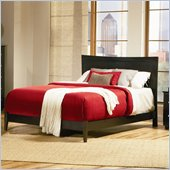 Atlantic Furniture Miami Wood Platform Bed with Open Footrail 4 Piece Bedroom Set