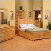 Atlantic Furniture Manhattan Wood Platform Bed with Matching Footboard 3 Piece Bedroom Set