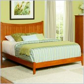 Atlantic Furniture Manhattan Wood Platform Bed with Open Footrail 3 Piece Bedroom Set