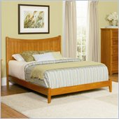 Atlantic Furniture Manhattan Wood Platform Bed with Open Footrail 4 Piece Bedroom Set
