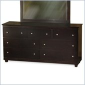 Atlantic Furniture Miami 7 Drawer Double Dresser