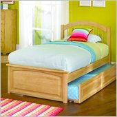 Atlantic Furniture Windsor Platform Bed with Raised Panel Footboard in Natural Maple Finish