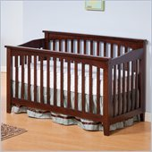 Atlantic Furniture Columbia Convertible Crib in Antique Walnut Finish
