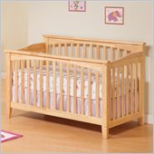 Atlantic Furniture Columbia Convertible Crib in Natural Maple Finish