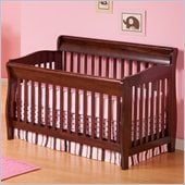 Atlantic Furniture Versailles Convertible Crib in Antique Walnut