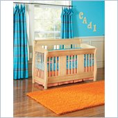 Atlantic Furniture Versailles Convertible Crib in a Natural Maple Finish