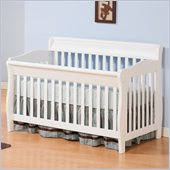 Atlantic Furniture Versailles Convertible Crib in a White Finish