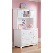 Atlantic Furniture Windsor Changing Table and Hutch in White