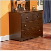 Atlantic Furniture Windsor 3 Drawer Single Dresser in Antique Walnut