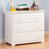 Atlantic Furniture Windsor 3 Drawer Single Dresser in White