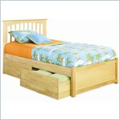 Atlantic Furniture Brooklyn Twin Platform Bed with Flat Panel Footboard