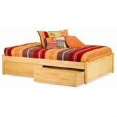 Atlantic Furniture Concord Platform Bed with Flat Panel Footboard in Natural Maple
