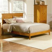 Atlantic Furniture Monterey Platform Bed with Open Footrail in Caramel Latte