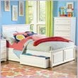 ADD TO YOUR SET: Atlantic Furniture Monterey Platform Bed with Raised Panel Footboard in White