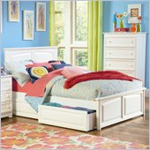 Atlantic Furniture Monterey Platform Bed with Raised Panel Footboard in White
