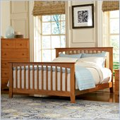 Atlantic Furniture Brooklyn Platform Bed with Matching Footboard in Caramel Latte