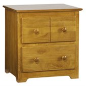 Atlantic Furniture Windsor 2 Drawer Nightstand in Caramel Latte