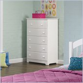 Atlantic Furniture Windsor 55 Inch 5 Drawer Chest in White