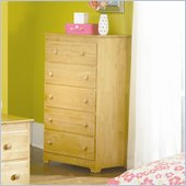 Atlantic Furniture Windsor 55 Inch 5 Drawer Chest in Natural Maple