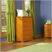 Atlantic Furniture Windsor 55 Inch 5 Drawer Chest in Caramel Latte