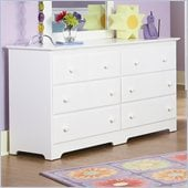 Atlantic Furniture Windsor 6 Drawer Double Dresser in White