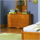 Atlantic Furniture Windsor 6 Drawer Double Dresser in Caramel Latte