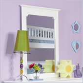 Atlantic Furniture Windsor Portrait Mirror in White