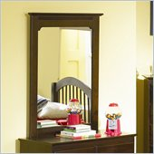 Atlantic Furniture Windsor Portrait Mirror in Antique Walnut