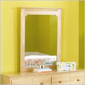 Atlantic Furniture Windsor Portrait Mirror in Natural Maple