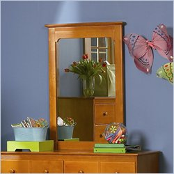 Atlantic Furniture Windsor Portrait Mirror in Caramel Latte