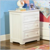 Atlantic Furniture Manhattan 3 Drawer Nightstand in White