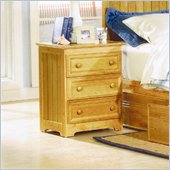 Atlantic Furniture Manhattan 3 Drawer Nightstand in Natural Maple