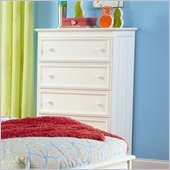 Atlantic Furniture Manhattan 5 Drawer Chest in White