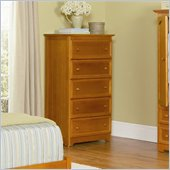 Atlantic Furniture Manhattan 5 Drawer Chest in Caramel Latte