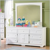 Atlantic Furniture Manhattan 7 Drawer Triple Dresser in White