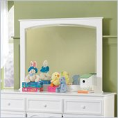 Atlantic Furniture Manhattan Landscape Mirror in White