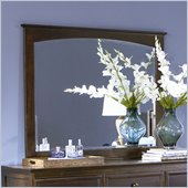 Atlantic Furniture Manhattan Landscape Mirror in Antique Walnut