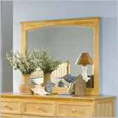 Atlantic Furniture Manhattan Landscape Mirror in Natural Maple