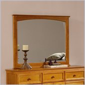 Atlantic Furniture Manhattan Landscape Mirror in Caramel Latte