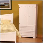 Atlantic Furniture Manhattan TV/Wardrobe Armoire in White