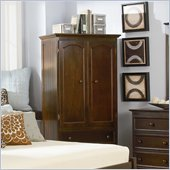 Atlantic Furniture Manhattan TV/Wardrobe Armoire in Antique Walnut