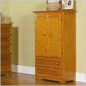 Atlantic Furniture Manhattan TV/Wardrobe Armoire in Caramel Latte