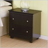 Atlantic Furniture Miami 2 Drawer Nightstand in Espresso
