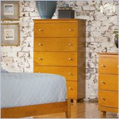 Atlantic Furniture Miami 5 Drawer Chest in Caramel Latte
