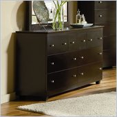 Atlantic Furniture Miami 7 Drawer Double Dresser in Espresso