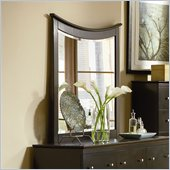 Atlantic Furniture Miami Landscape Mirror in Espresso