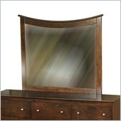 Atlantic Furniture Miami Landscape Mirror in Antique Walnut