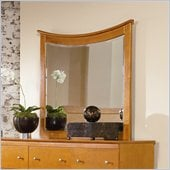 Atlantic Furniture Miami Landscape Mirror in Caramel Latte