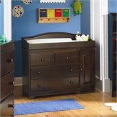 Atlantic Furniture Windsor 3 Drawer Changing Table in Antique Walnut