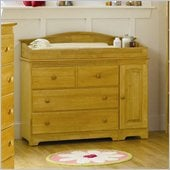 Atlantic Furniture Windsor 3 Drawer Changing Table in Natural Maple